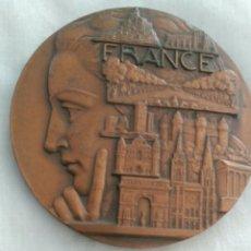 Medallas temáticas: MEDALLA ART DECO. EXPOSICIÓN PARÍS DE FRANCE DE PIERRE TURÍN. LOS MONUMENTOS MAS FAMOSOS DE FRANCIA. Lote 90132723