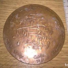 Medallas temáticas: FERROCARRILES FRANCESES. FRANCIA. LÍNEA ELÉCTRICA PARIS MARSELLA. 1962. BRONZE EN CANTO. Lote 90370600