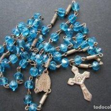 Medallas temáticas: ROSARIO CON CUENTAS DE PIEDRA-CRISTAL. Lote 90371868