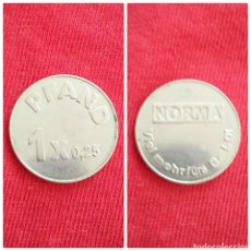 Medalhas temáticas: MONEDA COMERCIAL FICHA TOKEN NORMA. Lote 234456280