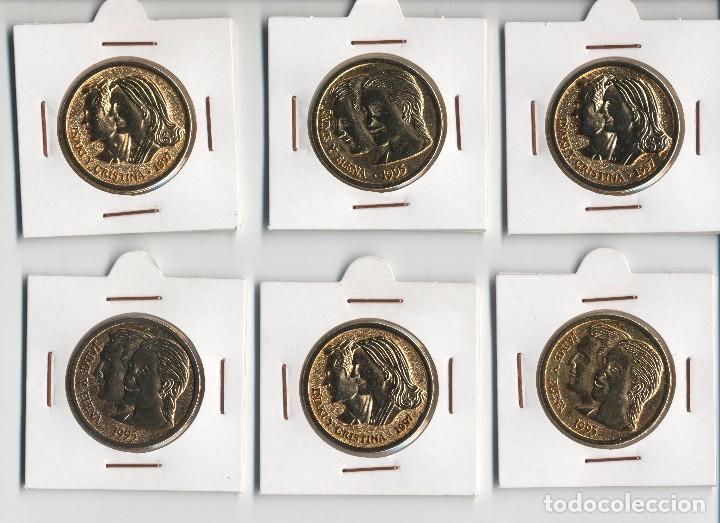 6 MONEDAS ESPAÑOLA DE COLECCION BODA JAIME Y ELENA / IÑAKI Y CRISTINA (SC). (Numismática - Medallería - Temática)