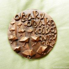 Medallas temáticas: MEDALLA DE LA F.N.M.T. TITULADA OLIVAR Y OLIVAREROS, CON ESTUCHE. Lote 92341095
