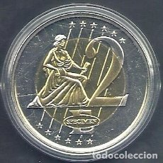 Medallas temáticas: ESLOVENIA - 2 EURO 2003 DE PRUEBA - MAS GRANDE EN UNA LATA PLÁSTICO - SIN CIRCULAR / PROOF. Lote 92743175