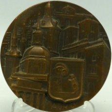 Medallas temáticas: MEDALLA MADRID BRONCE FERNANDO DE JESÚS FNMT 1966 CON REYES EN EL REVERSO. Lote 92814665