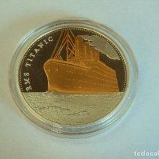 Medallas temáticas: PRECIOSA GRAN MONEDA CONMEMORATIVA EL VIAJE DEL TITANIC PLATA Y ORO SILVER / GOLD (1). Lote 172249400