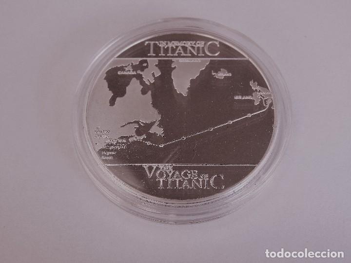 Medallas temáticas: PRECIOSA GRAN MONEDA CONMEMORATIVA EL VIAJE DEL TITANIC PLATA Y ORO SILVER / GOLD (1) - Foto 2 - 172249400