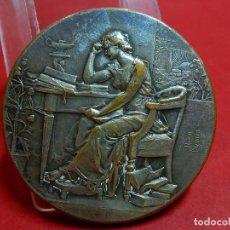 Medallas temáticas: HEBILLA REALIZADA CON UNA MEDALLA. METAL PLATEADO. 1907.. Lote 94840299