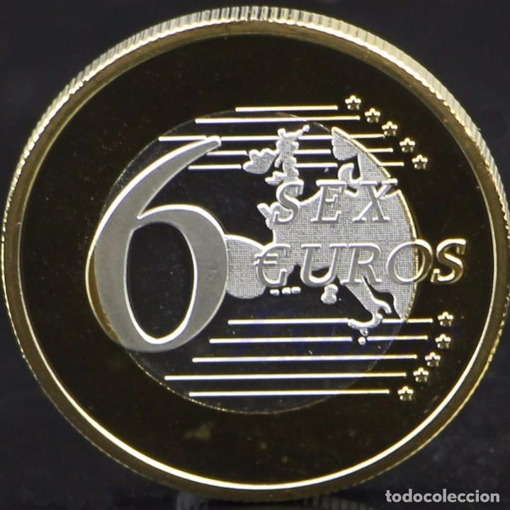 Medallas temáticas: COLECCION 34 MONEDAS DE 6 EUROS CONMEMORATIVAS POSTURAS KAMASUTRA - KAMA SUTRA - BAÑO ORO (1) - Foto 2 - 150365614