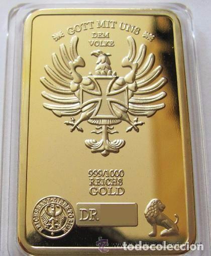 Medallas temáticas: LINGOTE ORO 24K ALEMANIA WWII STALINGRADO EDICION LIMITADA DIFICIL DE CONSEGUIR - Foto 2 - 179005248