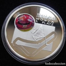 Medallas temáticas: BONITA MONEDA DEL PILOTO DE FORMULA 1 MICHAEL SCHUMACHER GRAN PRECIO DE MONZA EN 1991. Lote 95396515