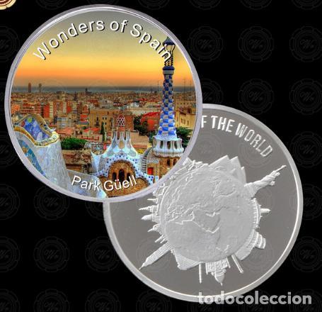 MONEDA MARAVILLAS DE ESPAÑA - PARQUE GUELL BARCELONA - PLATA 999 - LEER DESCRIPCION (1) (Numismática - Medallería - Temática)