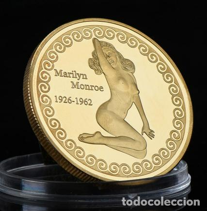 MONEDA CONMEMORATIVA MARILYN MONROE HOLLYWOOD SUPERESTRELLA - ORO 24KT - LEER DESCRIPCION (1) (Numismática - Medallería - Temática)