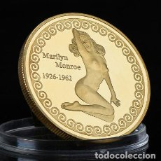 Medallas temáticas: MONEDA CONMEMORATIVA MARILYN MONROE HOLLYWOOD SUPERESTRELLA - ORO 24KT - LEER DESCRIPCION (1). Lote 179005462