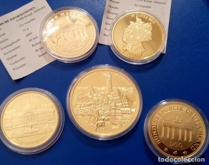 BONITO LOTE DE 5 MONEDAS CONMEMORATIVAS DE ALEMANIA IDEAL PARA INICIAR O AMPLIAR UNA COLECCION (Numismática - Medallería - Temática)