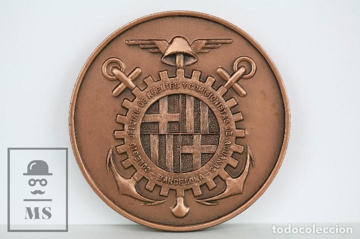 MEDALLA DEL COLEGIO OFICIAL DE AGENTES COMISIONISTAS DE ADUANAS DE BARCELONA - DIÁMETRO 5 CM (Numismática - Medallería - Temática)