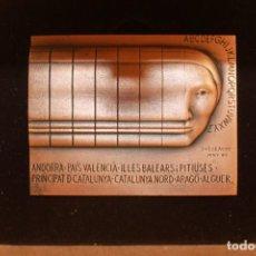 Medallas temáticas: SUBIRACHS, MEDALLA DEL II CONGRÉS INTERNACIONAL DE LA LLENGUA CATALANA, 8X6 CM, CON SU ESTUCHE. Lote 95669267