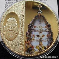 Medallas temáticas: PRECIOSA GRAN MONEDA ORO Y SWAROVSKI PAPALIS TIARA DES JOHANNES PAUL II DE JUAN PABLO II VATICANO. Lote 136393650