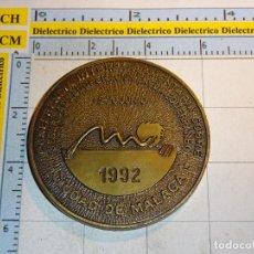Medallas temáticas: MONEDA MEDALLA. CONFERENCIA INTERPARLAMENTARIA SOBRE COOPERACIÓN Y DESARROLLO MÁLAGA 1992. 110 GR. Lote 97085259