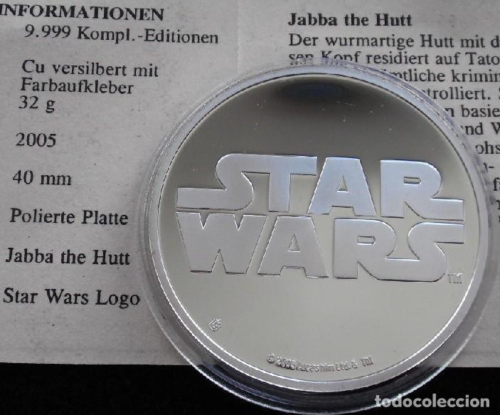 Medallas temáticas: BONITA MONEDA DE COLECCION STAR WARS PERSONAJE JABBA EDICION LIMITADA Y NUMERADA CON CERTIFICADO - Foto 2 - 97425907