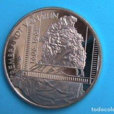Medallas temáticas: HOLANDA EN HOMENAJE AL FAMOSO PINTOR BARROCO REMBRANDT VAN RIJN 1606- 1669 . Lote 97473959