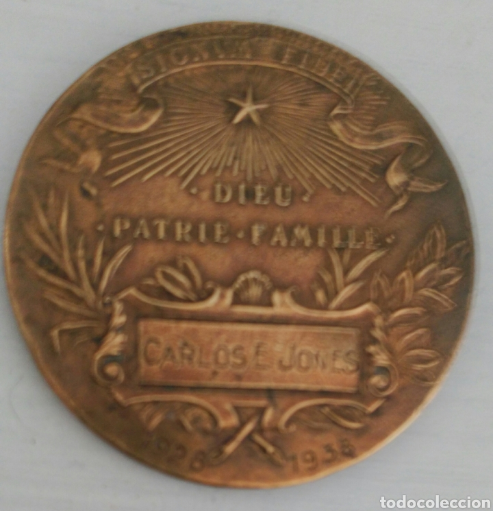 Medallas temáticas: MEDALLA FIRMADA POR A. BORREL DE SANCT. I. BAPT.DE LA SALLE. DIEZ PATRIA FAMILLE DE BRONCE - Foto 2 - 97627167