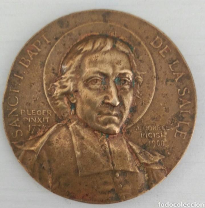 Medallas temáticas: MEDALLA FIRMADA POR A. BORREL DE SANCT. I. BAPT.DE LA SALLE. DIEZ PATRIA FAMILLE DE BRONCE - Foto 3 - 97627167