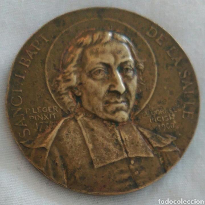 Medallas temáticas: MEDALLA FIRMADA POR A. BORREL DE SANCT. I. BAPT.DE LA SALLE. DIEZ PATRIA FAMILLE DE BRONCE - Foto 5 - 97627167
