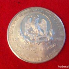 Medallas temáticas: MEDALLA DE PLATA DE MEXICO, 1925-1975 50 ANIV. 3,9 CM. DIÁMETRO, PROFF, RELIEVE EN MATE, VER FOTOS. Lote 98358167