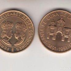 Medallas temáticas: ,,,MEDALLA CONMEMORATIVA EN COBRE FNMT 1991 SANTA FE CUNA HISPANIDAD, LOTE INTERESANTE 50 UNIDADES.. Lote 98893859