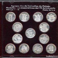 Medallas temáticas: 75 ANIVERSARIO AGRUPACIÓN DE COFRADÍAS DE MÁLAGA COFRADÍAS AGRUPADAS 1921 - 1935 PLATA DE LEY. Lote 99167667