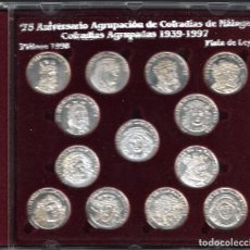 Medallas temáticas: 75 ANIVERSARIO AGRUPACIÓN DE COFRADÍAS DE MÁLAGA (1939- 1997) - DIARIO SUR.. Lote 99168251