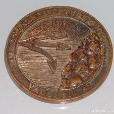 Medallas temáticas: MEDALLA MEDALLÓN DE LA XIII SEMANA DE ESTUDIOS DEL MAR. NAVAL MARINA. VALENCIA 1995. 120 GR. Lote 99909171