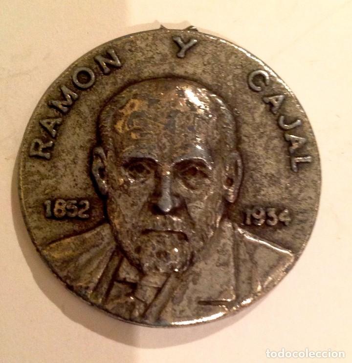 MEDALLA RAMÓN Y CAJAL 1852 1934 PREMIO NOVEL DE MEDICINA 1906 (Numismática - Medallería - Temática)