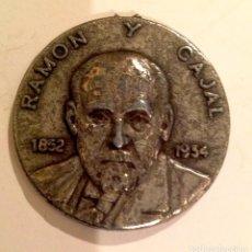 Medallas temáticas: MEDALLA RAMÓN Y CAJAL 1852 1934 PREMIO NOVEL DE MEDICINA 1906. Lote 100902467