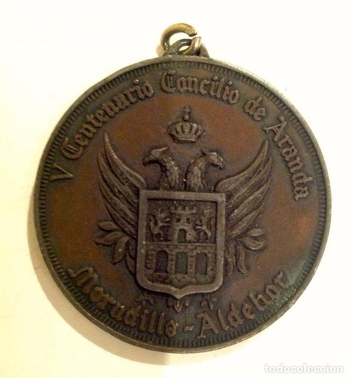 MEDALLA V CENTENARIO CONCILIO DE ARANDA DE DUERO PARROQUIA DE SAN JUAN (Numismática - Medallería - Temática)