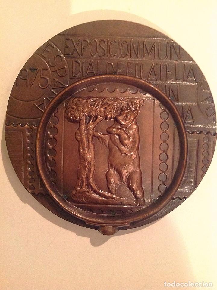 Medallas temáticas: Medalla De La Exposición Mundial Filatélica 1975 Madrid España - Foto 2 - 100911935