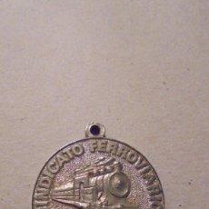 Medallas temáticas: FERROCARRIL - MEDALLA SINDICATO FERROVIARIO CC.OO. 4,3X3,8 CM. . Lote 101058543