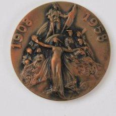 Medallas temáticas: M-712. MEDALLA 1908-1958. CINQUANTENARI DEL PALAU DE LA MUSICA CATALANA. ORFEO CATALA.. Lote 101889943