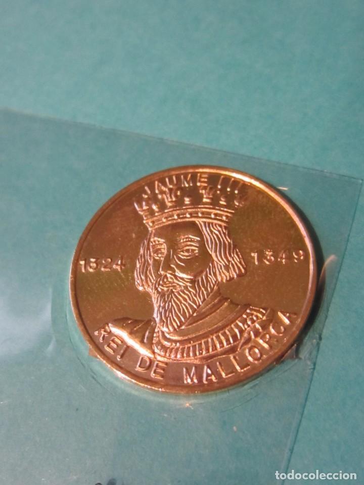 MEDALLA JAIME III . PLATA 925 CONTRASTE. MALLORCA. (Numismática - Medallería - Temática)