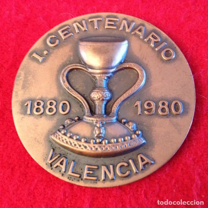 MEDALLA DEL I CENTENARIO 1880-1980 DE LA ADORACIÓN NOCTURNA ESPAÑOLA, VALENCIA (Numismática - Medallería - Temática)