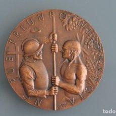 Medallas temáticas: MANOLO PRIETO - 1983 - NO FUE TRIUNFO NI DERROTA ... - MEDALLA DE BRONCE . Lote 103391455