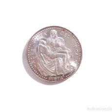 Medallas temáticas: MEDALLA PLATA. JOANNES PAULUS II. PONT. MAX. ROMA, CITTA DEL VATICANO, PIETA -JUAN PABLO II.- 3,5 CM. Lote 103446655