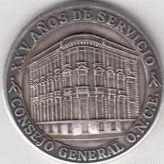 Medallas temáticas: MEDALLA: 25 AÑOS ORGANIZACION NACIONAL DE CIEGOS ESPAÑOLES - ONCE - XXV AÑOS DE SERVICIO - PLATA. Lote 103493371