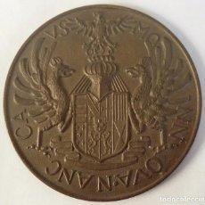 Medallas temáticas: MEDALLA BRONCE CON ESCUDO Y 3 ÁGUILAS REALES OVA N ANC CA VS MO. Lote 104057747