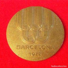 Medallas temáticas: MEDALLA DE BRONCE DORADO DE LOS CAMPEONATOS DE ESPAÑA UNIVERSITARIOS, BARCELONA, 1972, FEDU, 5 CM.. Lote 104377955