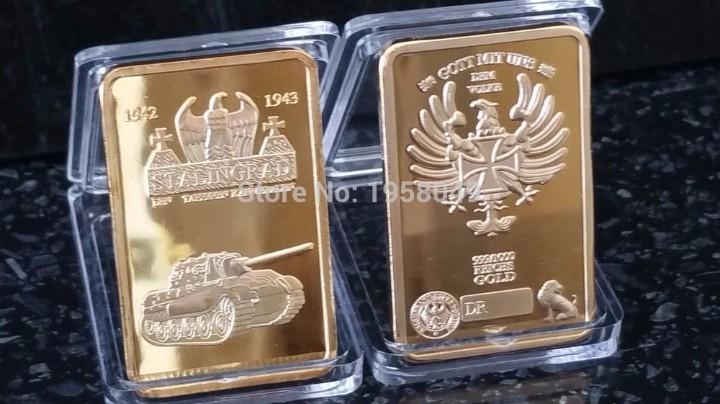 LINGOTE ORO 24K ALEMANIA WWII STALINGRADO EDICION LIMITADA DIFICIL DE CONSEGUIR (Numismática - Medallería - Temática)