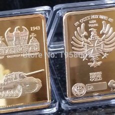 Medallas temáticas: LINGOTE ORO 24K ALEMANIA WWII STALINGRADO EDICION LIMITADA DIFICIL DE CONSEGUIR. Lote 179005248
