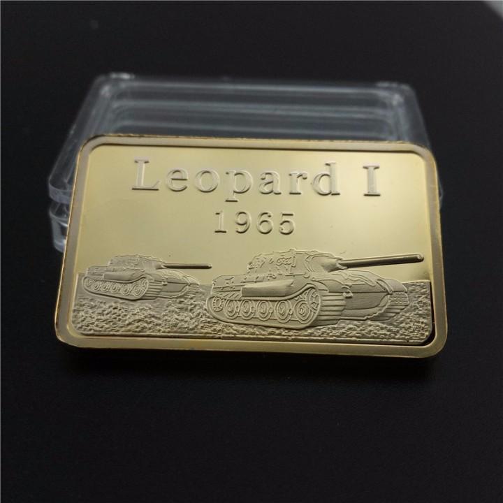 LINGOTE ORO 24K ALEMANIA LEOPARD I 1965 PANZER EDICION LIMITADA DIFICIL DE CONSEGUIR (Numismática - Medallería - Temática)