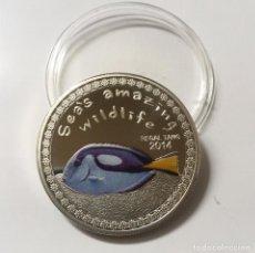 Medallas temáticas: COLECCION FAUNA INCREIBLE DEL MAR: PEZ ESPIGA REAL. Lote 105097703