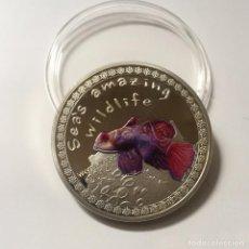 Medallas temáticas: COLECCION FAUNA INCREIBLE DEL MAR: PEZ MANDARIN. Lote 105098523